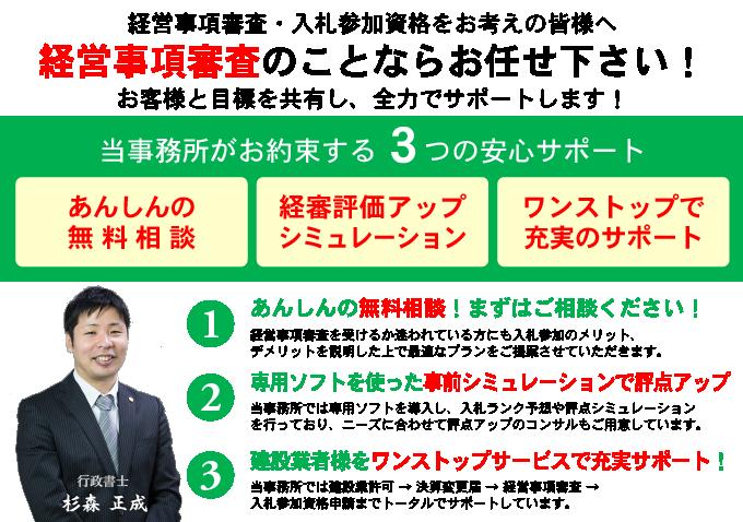千葉県の経営事項審査はお任せ下さい!